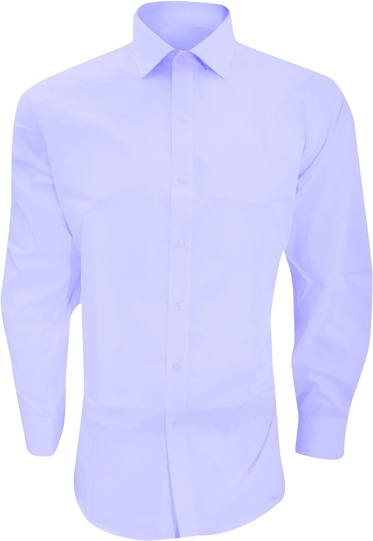 Brook Taverner - Camisa entallada de manga larga Plancha-fácil Modelo Alba - Trabajo/Fiesta/Verano: Amazon.es: Ropa y accesorios
