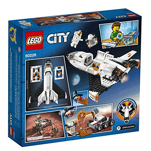 61tFlwPBhXL - LEGO City Space Mars Research Shuttle 60226 Space Shuttle Toy Building Kit with Mars Rover and Astronaut Minifigures, Top STEM Toy for Boys and Girls, New 2019 (273 Pieces)