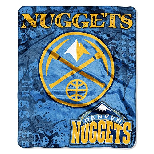 The Northwest Company Officially Licensed NBA Denver Nuggets Dropdown Plush Raschel Throw Blanket, 50