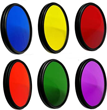 Balaweis 49mm Purple Full Color Lens Filter for DSLR Camera Lens Accessory with 49MM Filter Thread