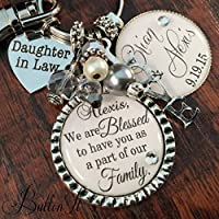 personalized wedding gift, anniversary gift, first wedding anniversary, Daughter in Law gift, Bridal bouquet charm, wedding bouquet charm, bridal shower gift, wedding gift for bride
