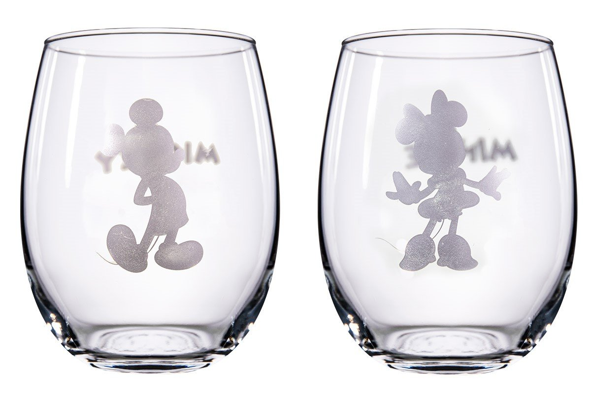 Disney Collectible Wine Glass Set (Mickey & Minnie)