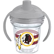 Tervis 1199517 NFL Washington Redskins Insulated Tumbler with Wrap and Moondust Gray Lid, 6 oz, Clear