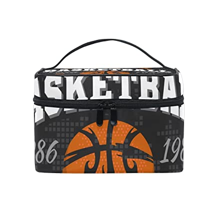 COOSUN Bolsa emblema del baloncesto cosmética lienzo Viaje Neceser ...