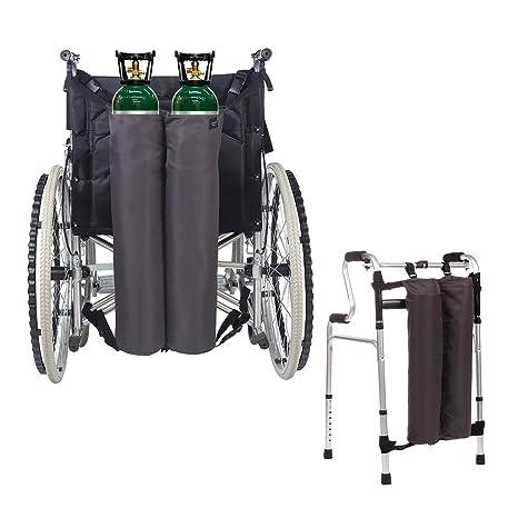 Mochila de oxígeno Bolsas para silla de ruedas Portador del ...