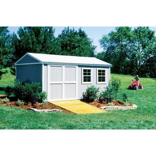 16' Storage Building Kit (Handy Home Products Premier Series - Somerset 10' x 16' Storage Building Kit - BMC-HHS 18505-2)