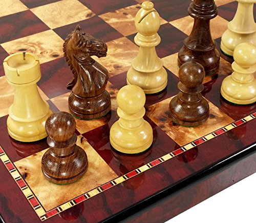 Double Chess Pieces Weighted Staunton (4 Queens - 3 3/4