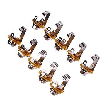 Trendyest - Conector jack hembra para guitarra eléctrica (10 unidades): Amazon.es: Instrumentos musicales
