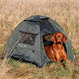 ZOIC Dog Cat Camping Tent Outdoor Travel Safety Pet Shelter Toy Storage (Green)