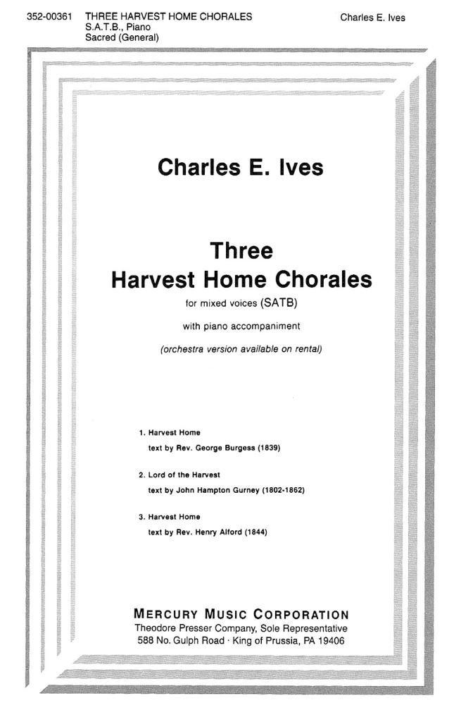 Three Harvest Home Chorales pdf