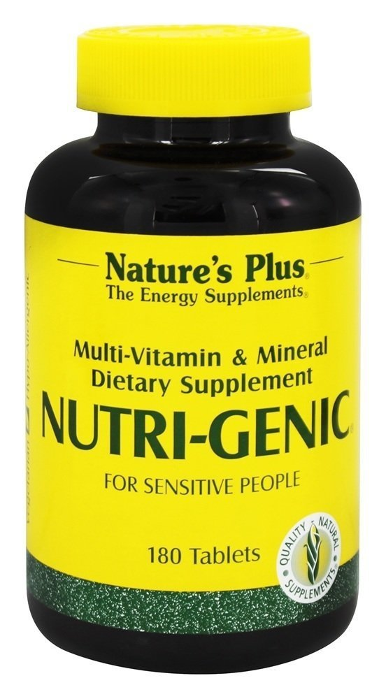 NaturesPlus Nutri-Genic Multivitamin – 180 Vegetarian Tablets – Hypo-Allergenic Natural Multivitamin Mineral Supplement for Sensitive People – Allergen-Free, Gluten-Free – 90 Servings