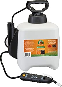 Just Scentsational Bare Ground Solutions MC-1FBL Bark Mulch Colorant with Pump Sprayer, 128 oz, Black