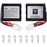GPTOYS 2pcs 800mAh Li-ion Battery and 8pcs Universal Body Clips for GPTOYS S911 S912 RC Cars High Speed Truck Accessory Supplies