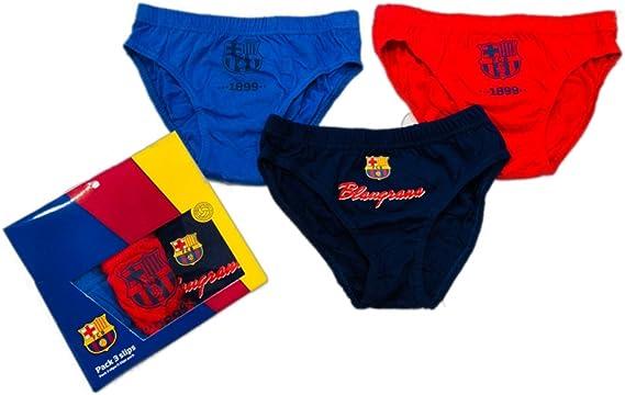 FCB Pack 3 Slips Niño FC Barcelona-BARÇA (Talla 12): Amazon.es ...
