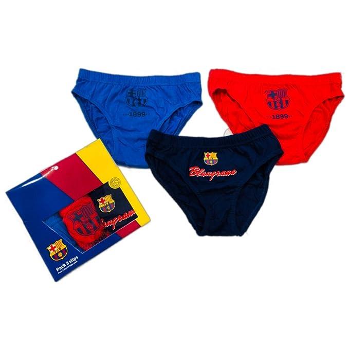 FCB Pack 3 Slips Niño FC Barcelona-BARÇA (Talla 10)