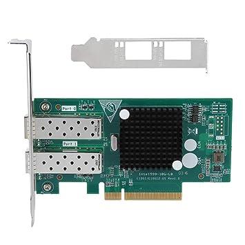 Wendry Tarjeta de Red, Tarjeta de Red PCI-E 8X Dual SFP, Adaptador ...