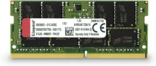 Kingston Technology ValueRAM 16GB DDR4 2400MHz Module 16GB DDR4 2400MHz Módulo de - Memoria (16 GB, 1 x 16 GB, DDR4, 2400 MHz, 260-pin SO-DIMM, Verde)