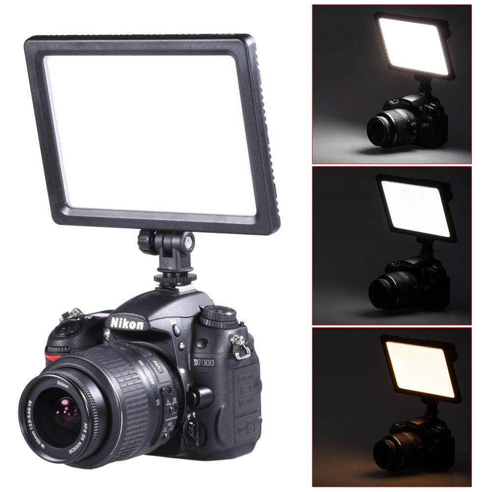 Bestlight 0.6''/1.5cm Ultra Thin BLPad-22 112-LED Video Light Dimmable Flat Panel On-Camera Light Pad for Canon Nikon Pentax Olympus Samsung Panasonic JVC DSLR Cameras DV Camcorders