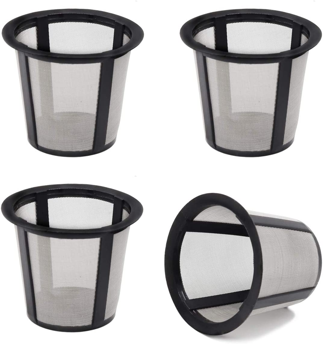 Replaceable Coffee Filter Screen Cup (4 Pieces) for use with the Reusable Coffee Filter Sets which are Compatible with Keurig 1.0 Brewers