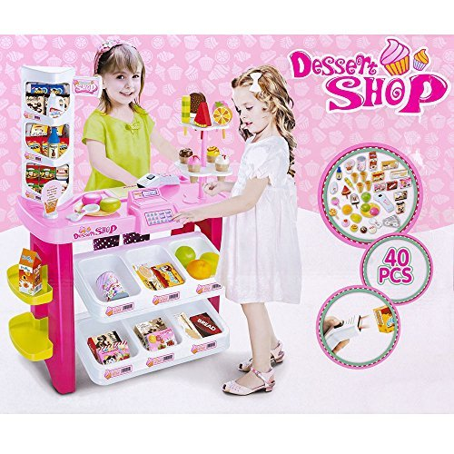 Children Role Play Kids Toy Dessert Shop Super Store Luxury Supermarket Play Set by Other by LikesStyle