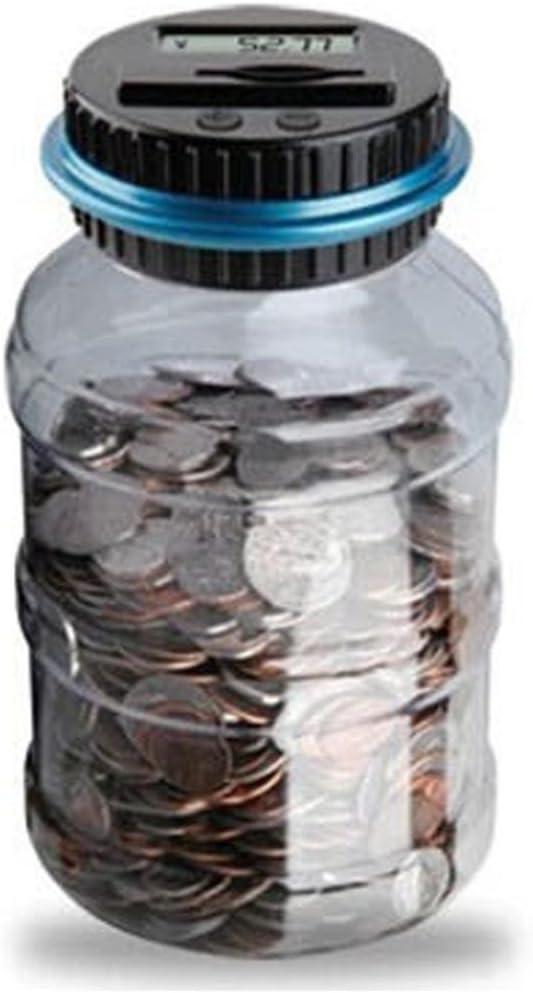 US Warehouse Elaco Digital Coin Bank Savings Jar Automatic Coin Counter Dollar Change Digital Bank Coin Savings Counter LCD Counting Money Jar Change Gift