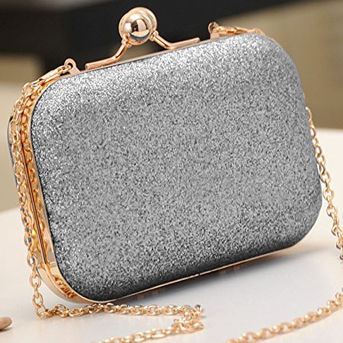 Prom PetHot Bag Wedding Party Clutch Sparkling Bag Luxury Evening Purse Women Shoulder Chain Silver Wallet 8qRp1F8r