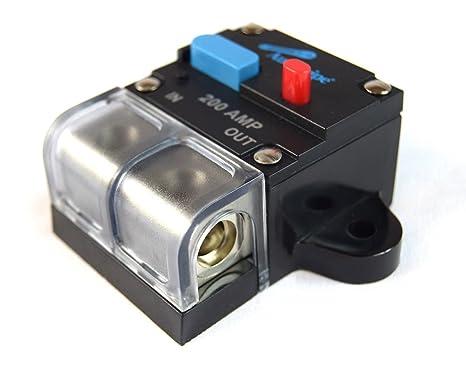 amazon com 12 volt 200 amp manual resettable circuit breaker car rh amazon com