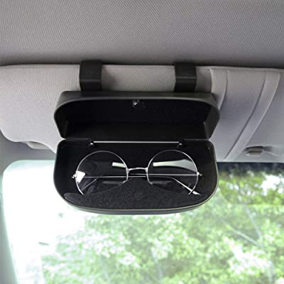 Nine Summer Glasses Clip Holders for Car Sun Visor - Sunglasses Eyeglasses Storage Holder Organizer Box with A Double Snap Clip Design,Apply to All Car Models (Black): Automotive