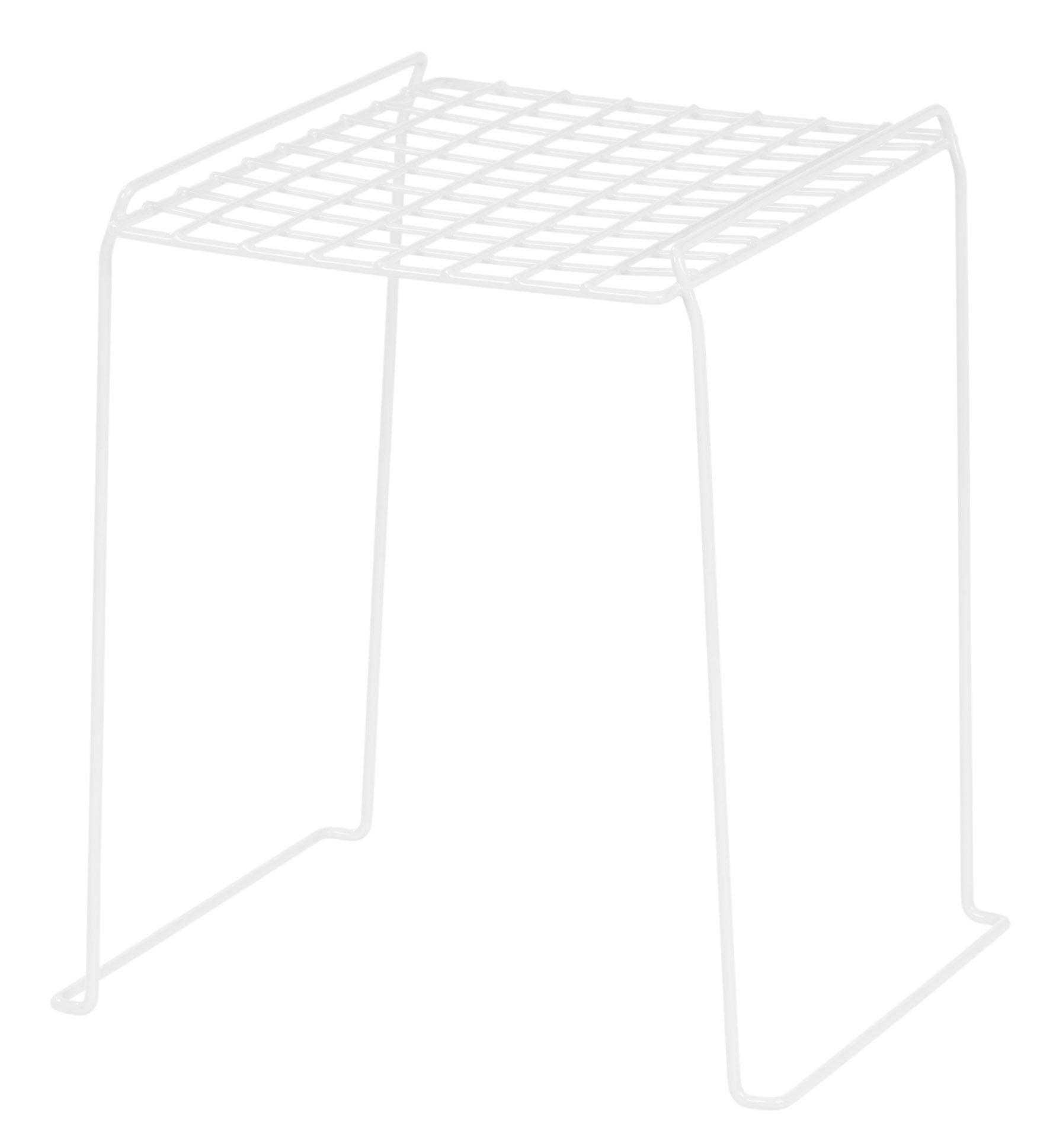 IRIS 12-inch Stackable Wire Locker Shelf, 4-pack, White