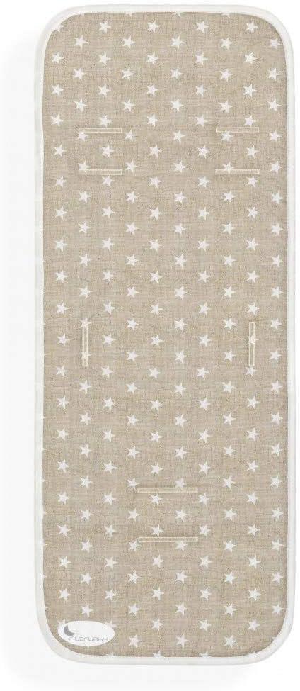 Colchoneta Silla de Paseo Universal Transpirable Estrellas Beige: Amazon.es: Bebé