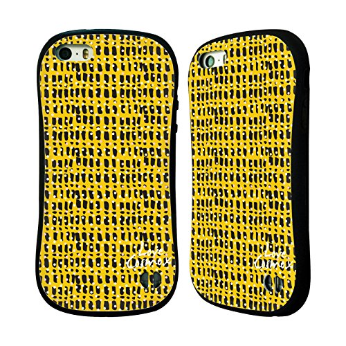 Official Cosmopolitan Black And Yellow Totally 80S Hybrid Case for Apple iPhone 5 / 5s / SE