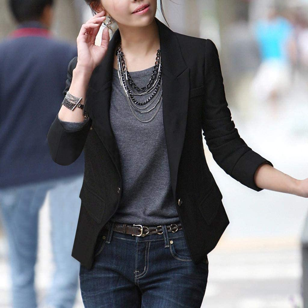 terbklf Womens Casual Work Office Open Front Blazer Jacket Ladies Long Sleeve Stylish Coat Longline Cardigans for Women