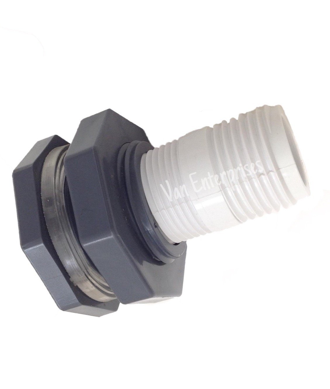 "3/4"" Bulkhead Fitting with Garden Hose Adapter Kit For Rain Barrels, Aquariums, Water Tanks, Tubs, Ponds"