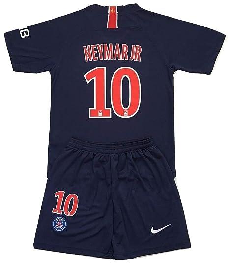 separation shoes c6e48 40283 Gadzhinski2017 Neymar Jr #10 PSG 2018-2019 Kids/Youths Home Soccer Jersey &  Shorts