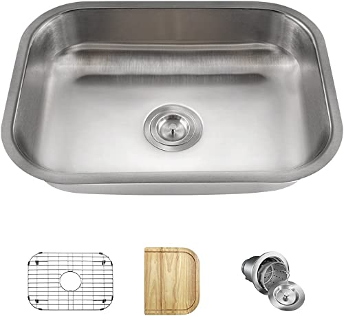 ADA2318 Single Bowl Stainless Steel Sink, Ensemble