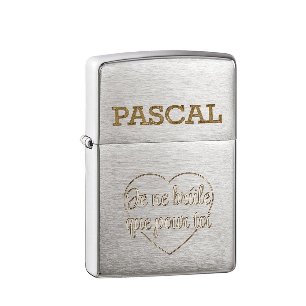 Gravado - Briquet à Essence Original avec Gravure - Je ne brûle Que pour toi - Standard - Briquet dans boîte zippo Noire - Vide - Cadeaux au Look Vintage - 3, 5 x 5, 5 x 1, 2 cm