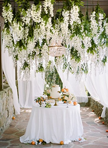 Amazon e joy 24 piece realistic artificial silk wisteria vine e joy 24 piece realistic artificial silk wisteria vine ratta silk hanging flower plant for junglespirit Images