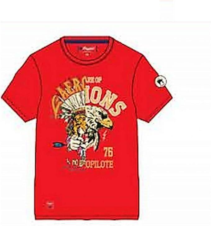 Camiseta Aeropilote de Manga Corta con Cuello de tripulación 100% algodón en Rojo TS260142B Rojo 8 Años: Amazon.es: Ropa y accesorios