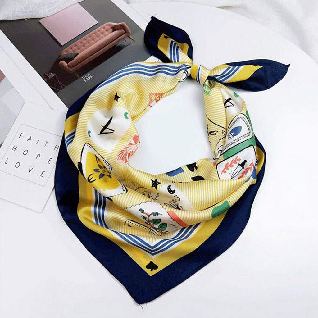 QIMANZI Damenschal Satin Die Seide F/ühlt sich Formell Quadrat/Hals Schal Haar Eingewickelt Quadratischer Seideschal KopfT/ücher Halstuch Seide Blumen Tuch Stolen