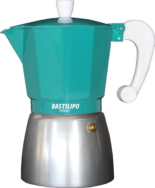 Bastilipo Colori-6 Cafetera, Aluminio, Esmeralda: Amazon.es: Hogar