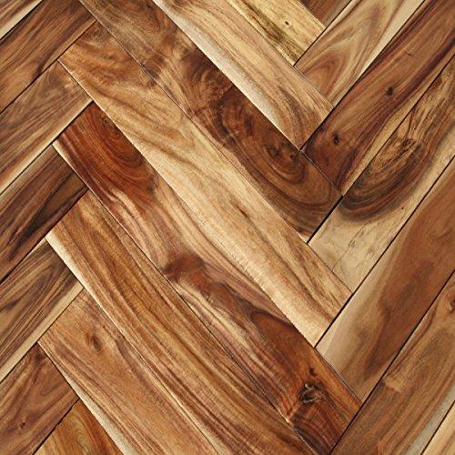 (Acacia Herringbone Natural Solid Hardwood Floor (Sample))