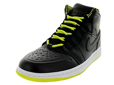 Jordan Nike Men s Air 1 Retro  94 Black Venom Green Black Basketball Shoe 460f339c1