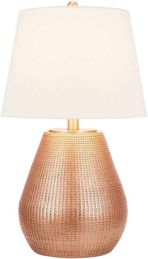 Amazon Com Catalina Lighting 21386 000 Modern Hammered Faux Metallic Table Lamp 27 25 Copper Home Improvement
