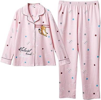 Ropa De Dormir Pijamas Mujer Camisones Algodón Manga Larga ...