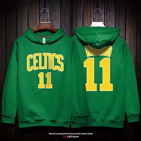 Fan-Moda Hombres Sudadera celtas/tío dibujó Baloncesto Jersey con ...
