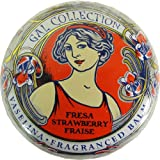 Strawberry Gal Spanish Lip Balm in Gold Art Nouveau Tin