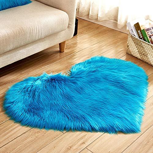 Hot Sale!DEESEE(TM)Wool Imitation Sheepskin Rugs Faux Fur Non Slip Bedroom Shaggy Carpet Mats (F) - Living Shaggy Rug