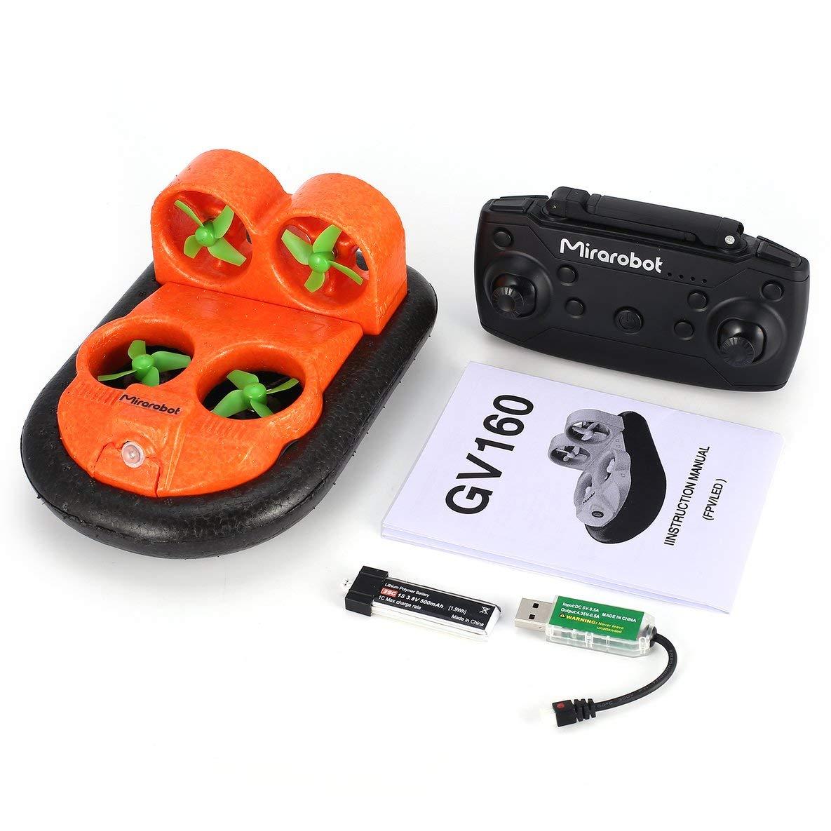 Moliies Mirarobot GV160 2.4G versión de Alta Velocidad del vehículo LED del Efecto del Coche del Barco de RC
