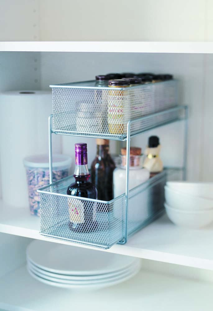 Silver Wire Mesh Kitchen Cupboard Baskets: Amazon.co.uk: Kitchen & Home
