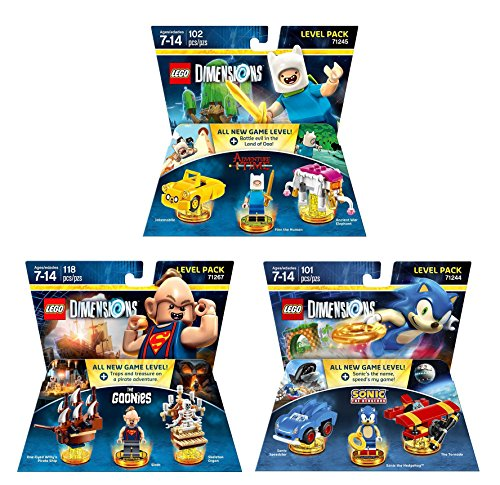 Goonies Level Pack + Sonic The Hedgehog Level Pack + Adventure Time Finn The Human Level Pack (Non Machine Specific)